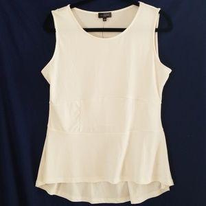 2/$20 Nwt white tank top blouse